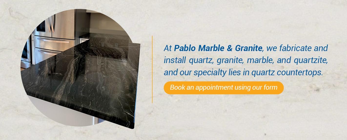 quartz countertops - pablo marble & granite
